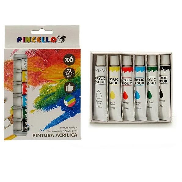 Tinta acrílica (6 peças)