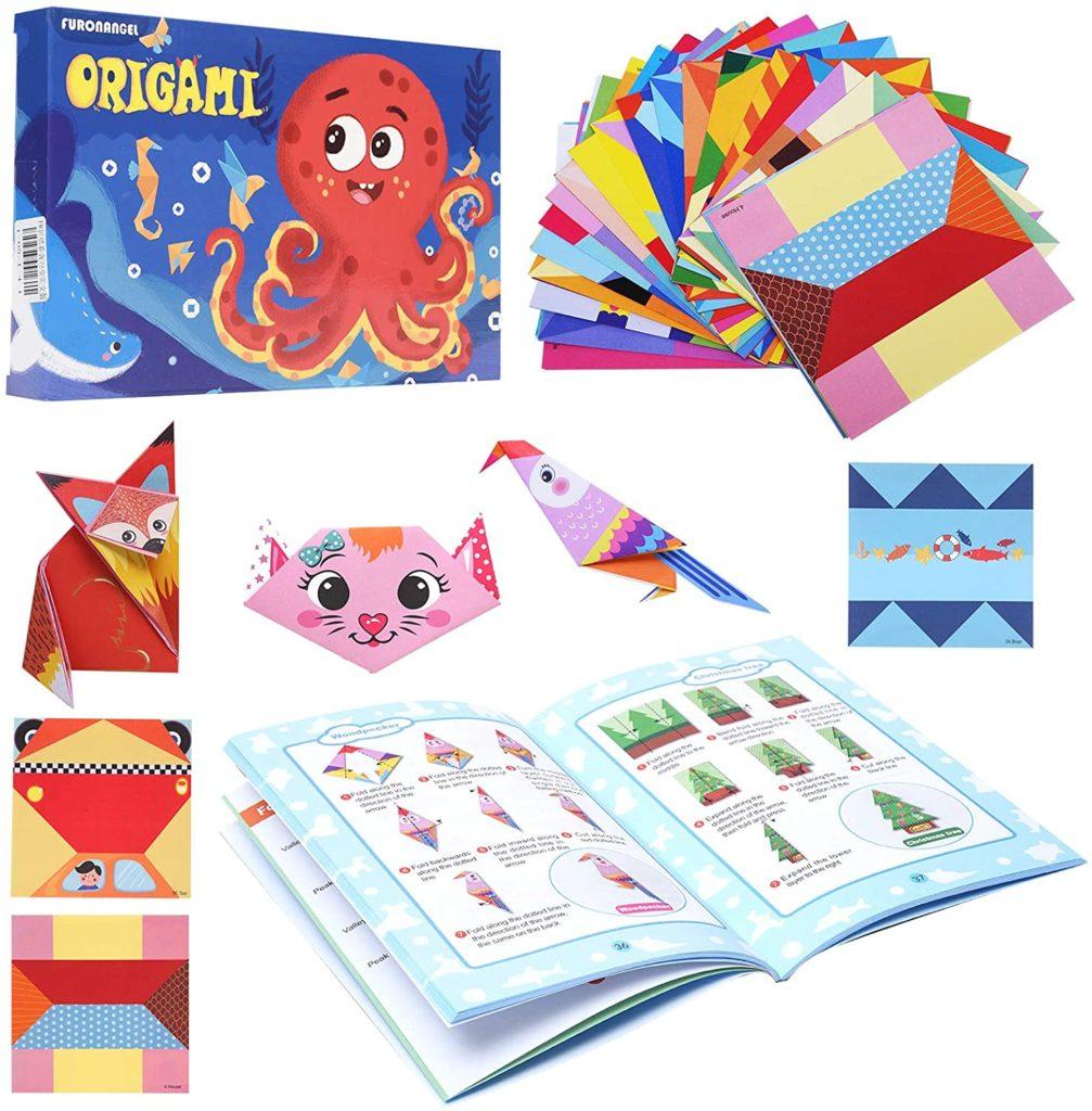 Kit de Papel Origami Colorido